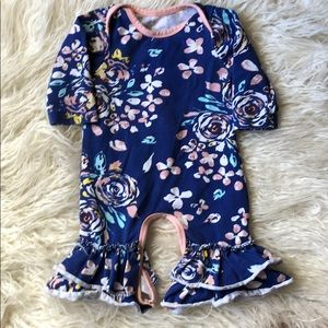 Other - Baby Girl Ruffle Leg Romper